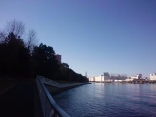 京浜運河の景色 目黒川ランニング